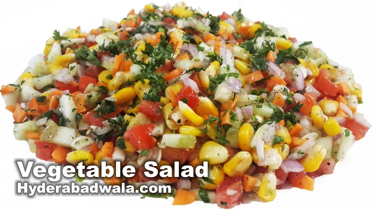 Healthy Vegetable Salad Recipe Video - How to Make Healthy Vegetable Salad at Home - Easy ...