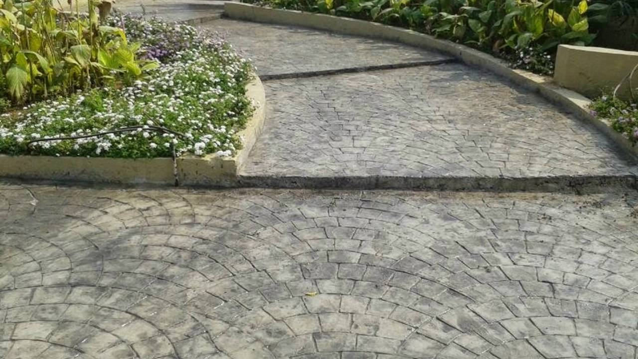 Designer Concrete Driveways Basement Ramp Parking Area Shubhaam Concret Floors