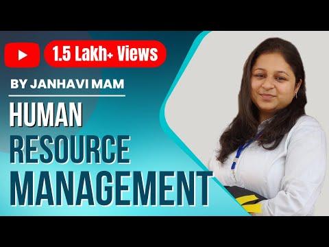 Human Resource Management by Prof. Janhavi | Business Management, Ethics & Entrepreurship
