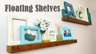 Reclaimed Floating Shelves