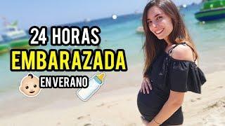 24 HORAS SIENDO MAMÁ * EMBARAZADA EN VERANO *   Lyna Vlogs
