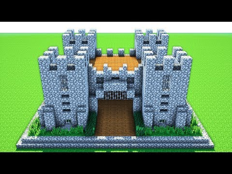 Minecraft How To Build A Castle Tutorial Survival Castle