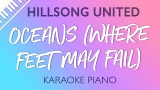 Hillsong UNITED - Oceans Where Feet May Fail Karaoke Piano