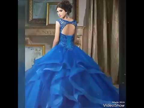Vestidos azul rey para quinceaneras