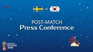 FIFA World Cup™ 2018: Sweden v. Korea Republic - Post-Match Press Conference