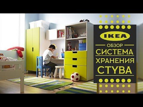 СТУВА Система хранения в детской  ИКЕА. Детальный обзор.