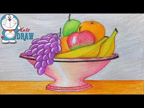 How to draw still life with oil pastel