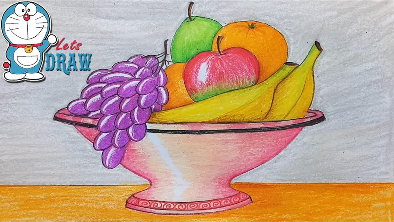 how to draw still life with oil pastel youtube. Black Bedroom Furniture Sets. Home Design Ideas