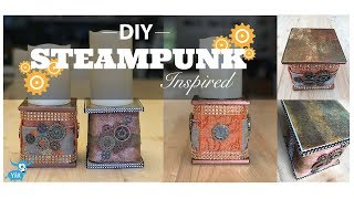 EASY and AFFORDABLE  DIY ~ Steampunk Inspired Candle Holder