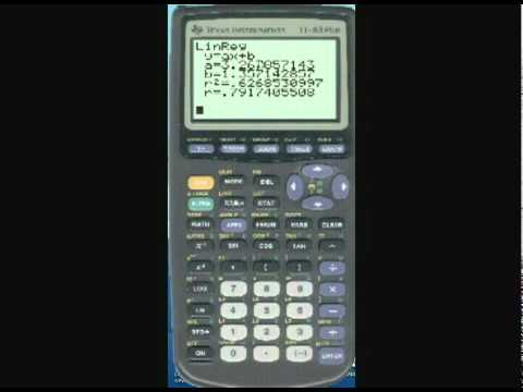 How To Do Linear Regression On Ti 83 Graphing Calculator