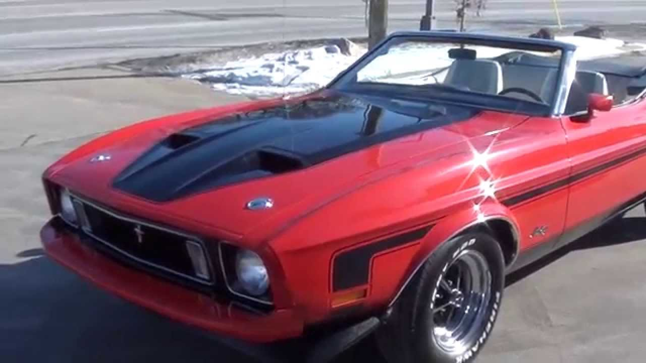 1973 Ford Mustang Convertible 28 900 00 Youtube
