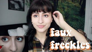 ☆freck beauty faux freckles // demo & review ☆