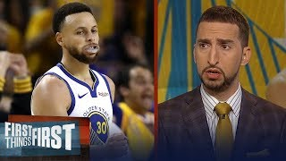 Blazers didn't make Steph Curry, Warriors work for GM 1 win - Nick Wright | NBA | FIRST THINGS FIRST