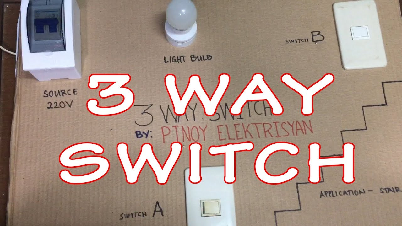 3 way switch wiring (Tagalog) - YouTube