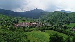 Aspet (31) et le Cagire - Le village et la vallée filmés par les airs
