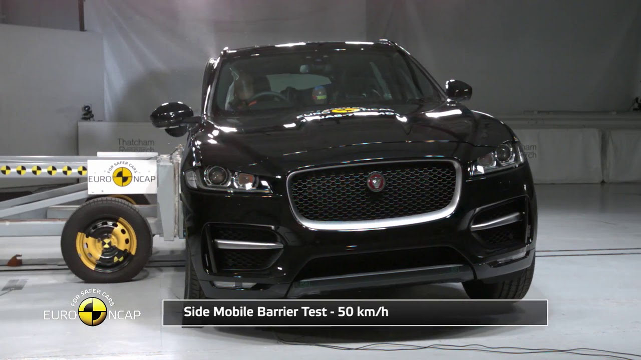 jaguar f pace crash tests 2017 youtube. Black Bedroom Furniture Sets. Home Design Ideas