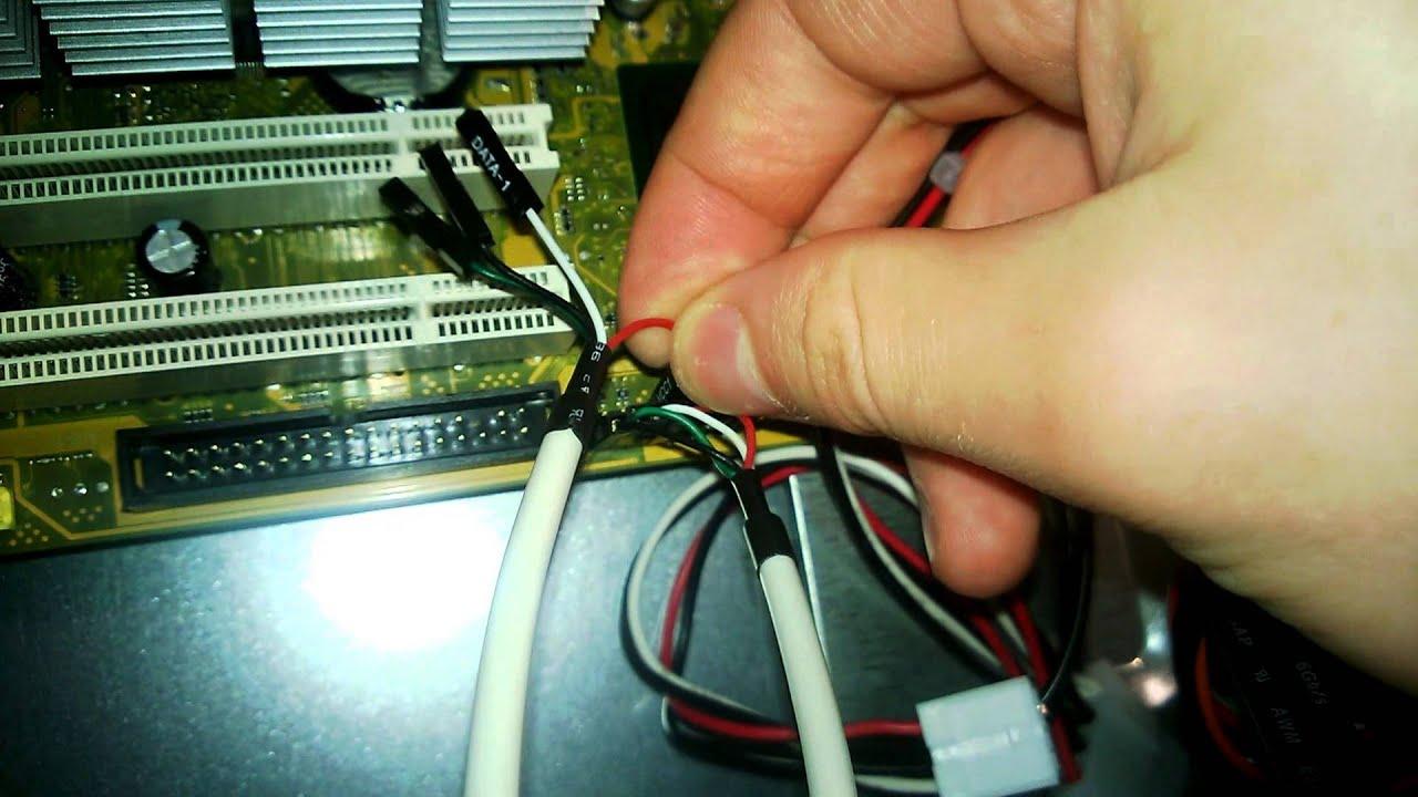 PC selber bauen: Teil 7 Kabel auf dem Mainboard anschließen - YouTube