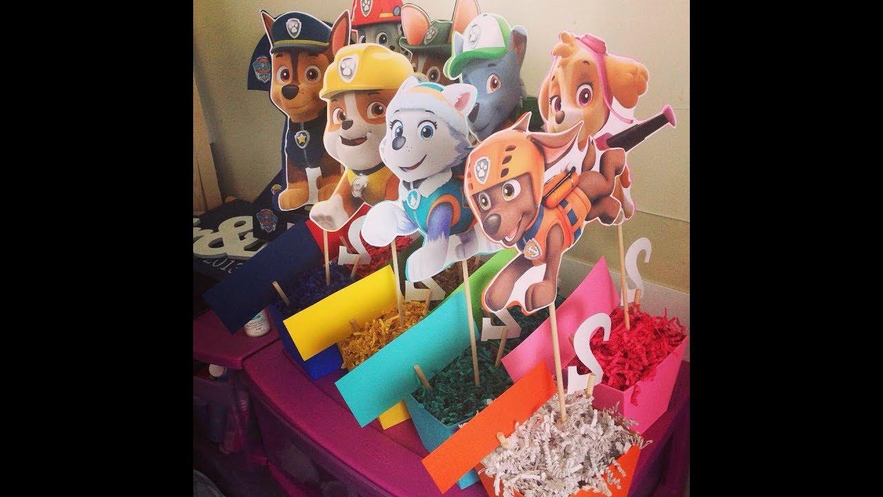 Diy Paw Patrol Party Decorations Part 1