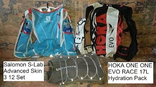 Running Vests for the Long Race: Salomon S-Lab 12, Hoka Evo Race, UD