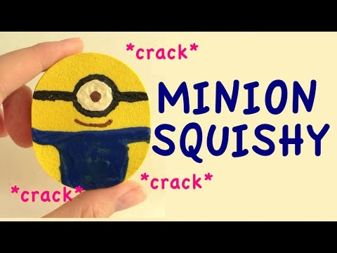 Diy Cracking Squishy : DIY Cracking Minion Squishy from Despicable Me - YouTube