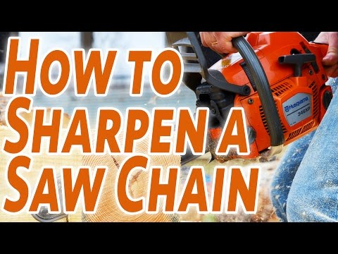 How To Sharpen A Saw Chain... The Easy Way By Bobby!