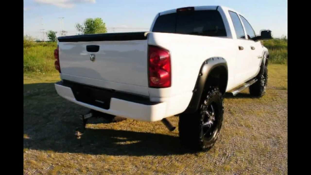 2007 custom dodge ram 1500 4x4 w hemi and lift youtube - White Dodge Truck 2005