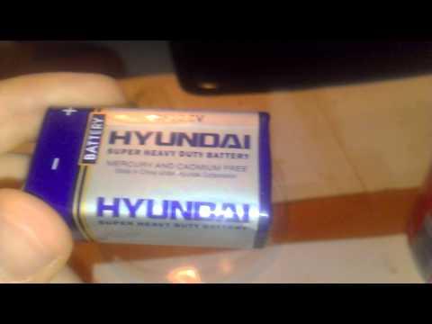 Hyundai Super Heavy Duty Battery 9V (Battery 6F22)