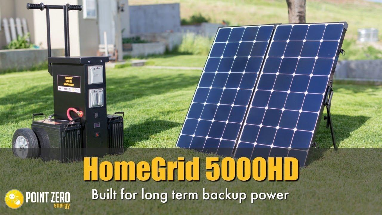 Homegrid 5000hd Solar Generator Youtube