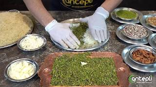 Antepli'nin elinden fıstıklı peynirli kaymaklı künefe