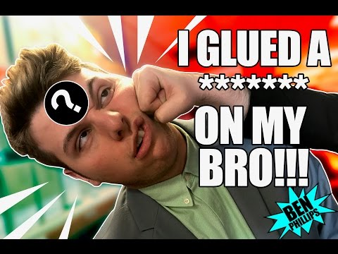 I Superglued it to my bro's head! PRANK!