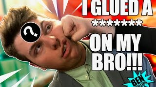 I Superglued it to my bro's head! PRANK!