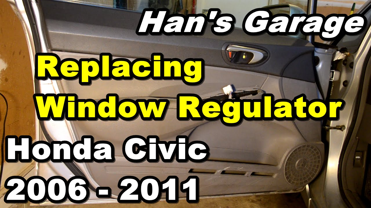 2 Door Coupe 06-11 Honda Civic Driver Window Regulator with Motor