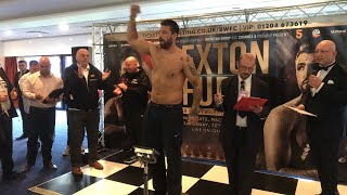 Hughie Fury v Sam Sexton weigh ins