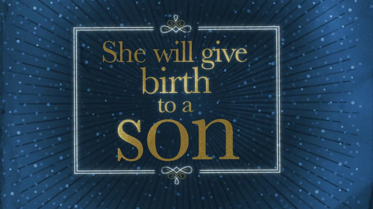 Christmas Bible Verse Video: Matthew 1:21 NIV, U201cShe Will Give Birth To A  Sonu2026u201d