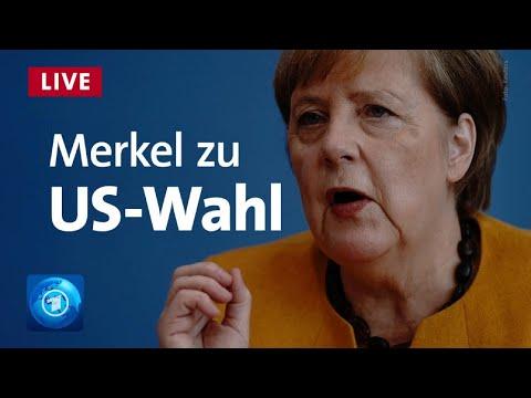 Kanzlerin Merkel mit Statement zum Ausgang der US-Wahl