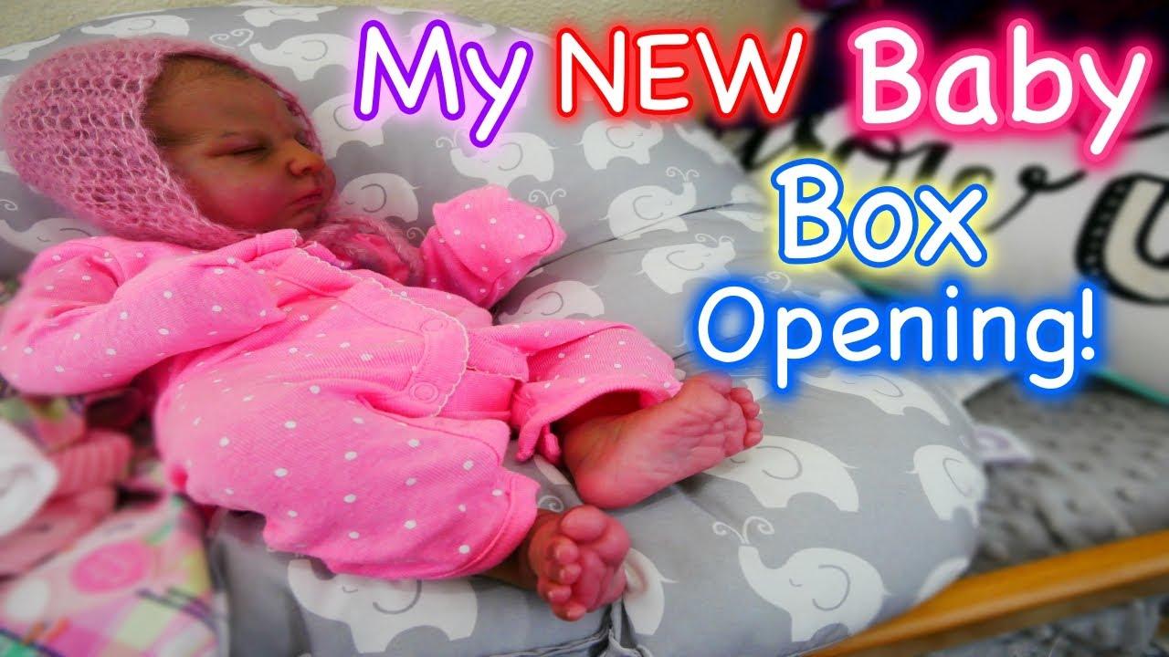 Reborn Baby Doll Box Opening Blanket Reveal Of Newborn