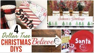 4 DOLLAR TREE CHRISTMAS DIYS | CHRISTMAS CRAFTS 🎅🏻
