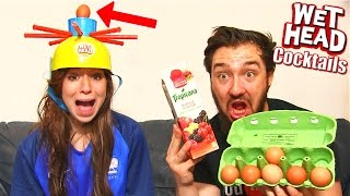 WET HEAD COCKTAILS CHALLENGE 2 en COUPLE ! OEUF + TOMATE + SIROP + LIMONADE !!