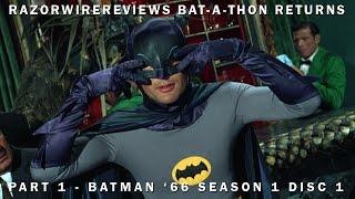 razorwirereviews bat a thon returns part 1 batman 66 season 1 disc 1