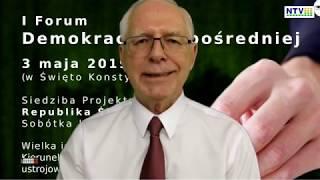 Jerzy Zięba o Demokracji Bezpośredniej i Forum DB w Sobótce