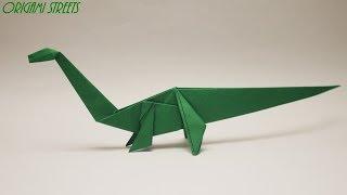 Как сделать динозавра из бумаги. Оригами динозавр из бумаги