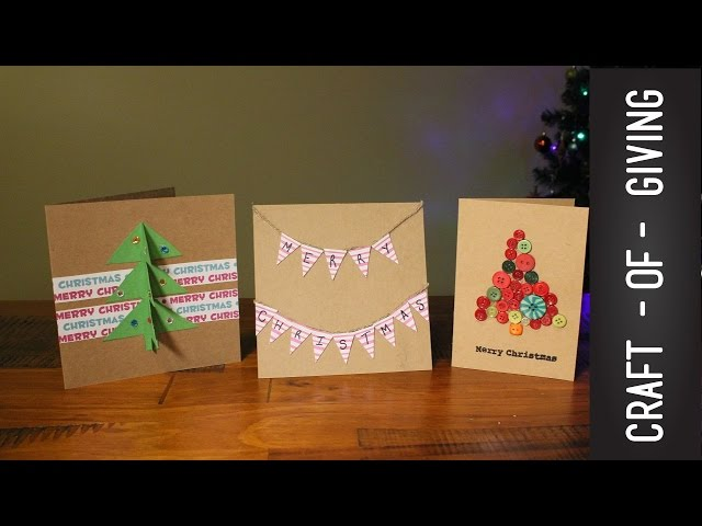 Easy and Quick Handmade Christmas Cards | Craft of Giving