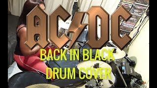 AC DC Back in Black Drum cover by TATI