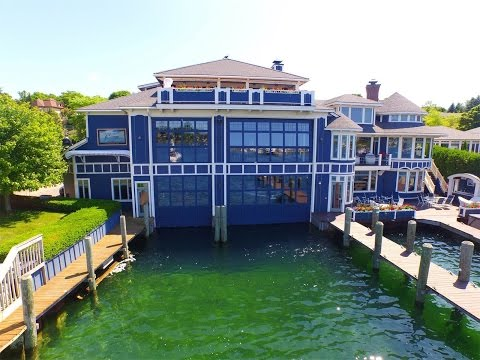 Round Lake Estate and Boat House in Charlevoix, Michigan