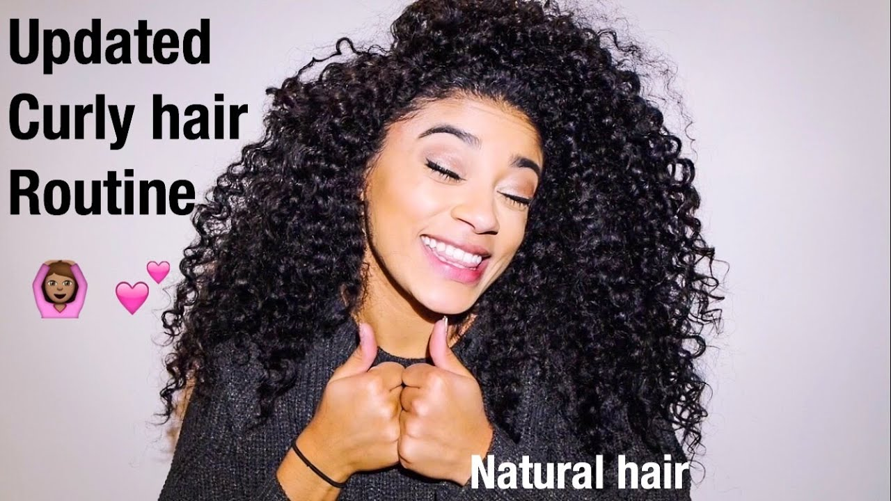 updated curly hair routine natural