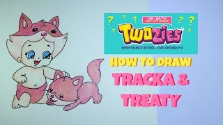 How to Draw Twozies Season 1 Tracky and Treaty Colored Pencil Drawing