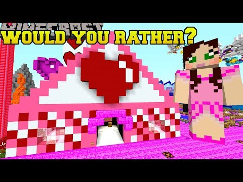 Minecraft: WOULD YOU RATHER MINI-GAME! - VALENTINE PARK - Custom Map [1] thumbnail