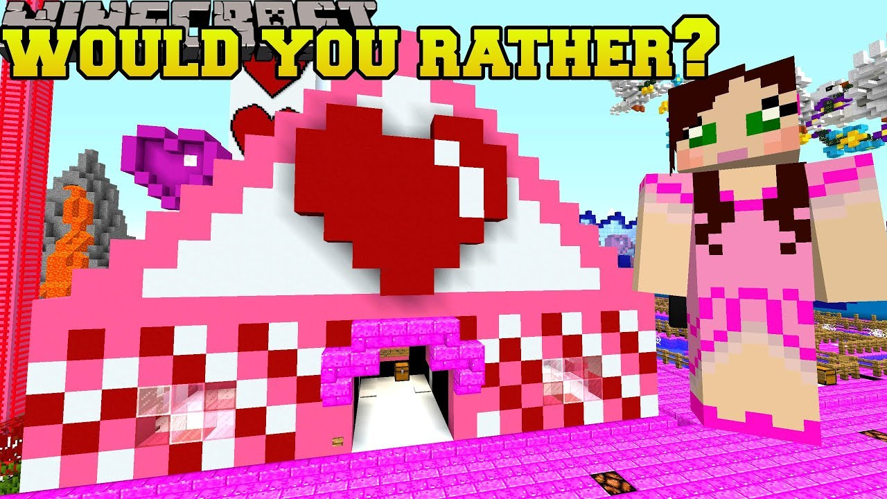 Minecraft: WOULD YOU RATHER MINI-GAME! - VALENTINE PARK - Custom Map [1]