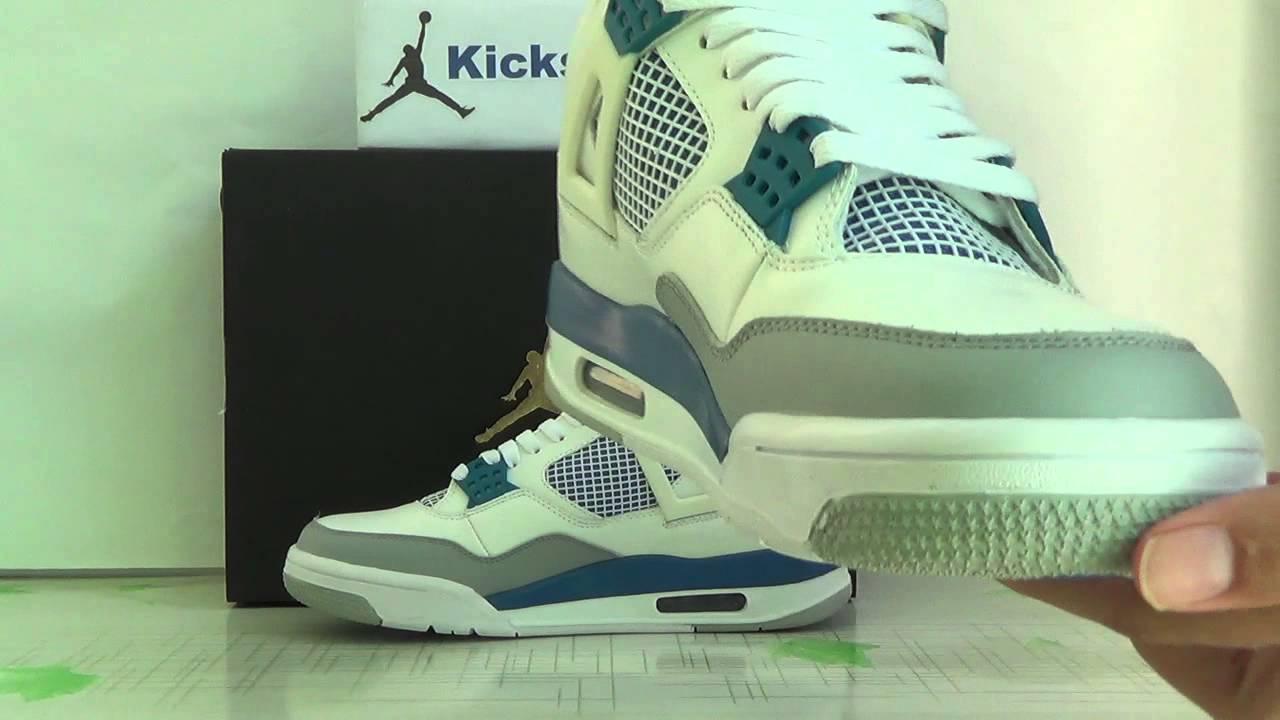 4fa6c06dcd0 Authentic Air Jordan 4 OG 89 Military Blue from kicksretro cn - YouTube