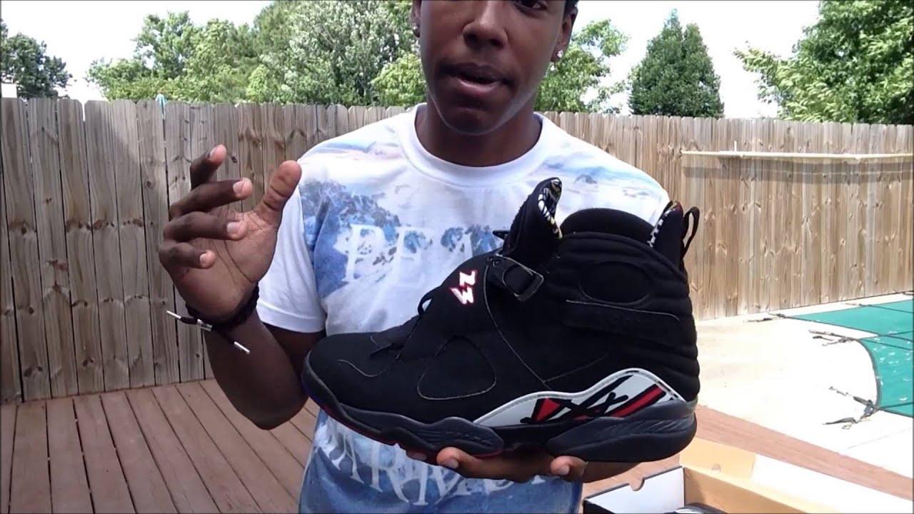 Air Jordan 8 Séries Éliminatoires Sur Les Pieds
